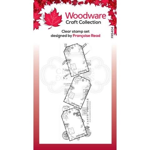 Woodware leimasin Three Tags