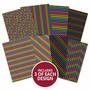 Hunkydory kartonkipakkaus Midnight Rainbows, A4, 24 arkkia, 350 gsm