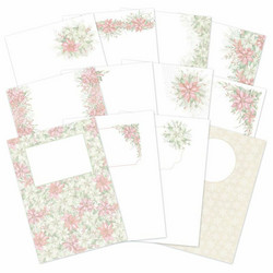 Hunkydory Forever Florals, Poinsettia Luxury Card Inserts -paperit