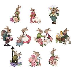 Valmiiksi leikattuja 3D kuvia, Pastel Hares