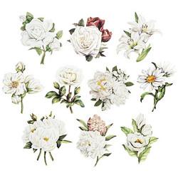 Valmiiksi leikattuja 3D kuvia, White Flowers