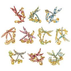 Valmiiksi leikattuja 3D kuvia, Jewel Dragonflies