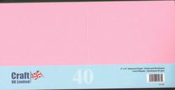 CraftUK korttipohjat ja kirjekuoret, pastelli, 6