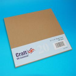 CraftUK Kraft -kartonki, 280 g, 20 arkkia, 12
