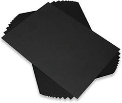 CraftUK kartonki, musta, 340 g, 25 arkkia