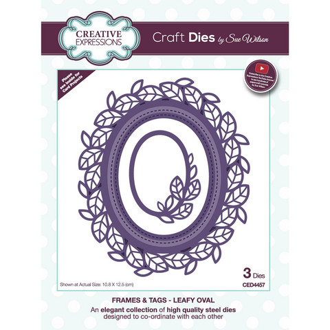 Creative Expressions stanssisetti Frames & Tags Leafy Oval