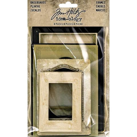 Tim Holtz Idea-Ology Baseboards Frames, 8 kpl