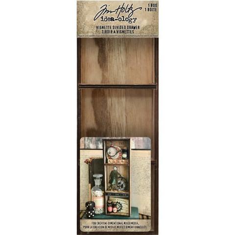 Tim Holtz Idea-Ology Wooden Vignette Divided Drawer -laatikko