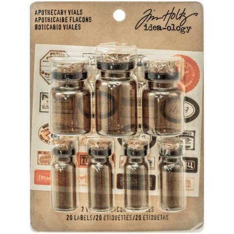 Tim Holtz Idea-Ology -koristeet, Corked Glass Vials
