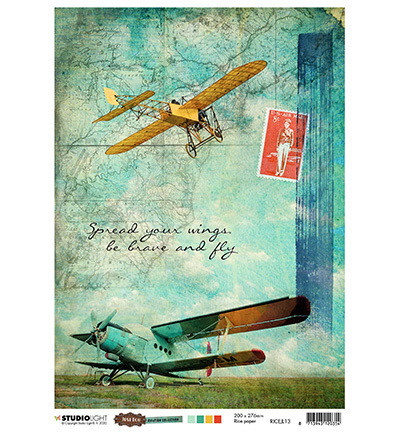 Studio Light riisipaperi Just Lou Aviation Collection 13
