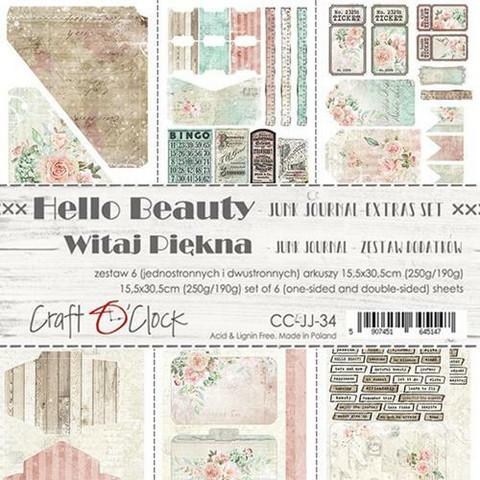 Craft O'clock paperipakkaus Hello Beauty Junk Journal Extras