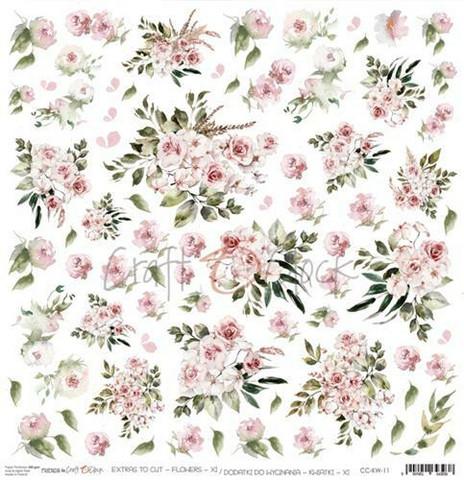 Craft O'clock skräppipaperi Flowers XI Extras To Cut