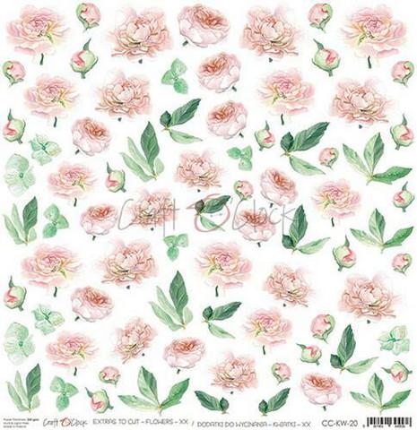Craft O'clock skräppipaperi Flowers XX Extras To Cut