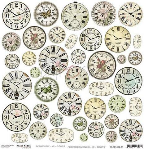 Craft O'clock skräppipaperi Mixed Media Extras To Cut Clocks 2