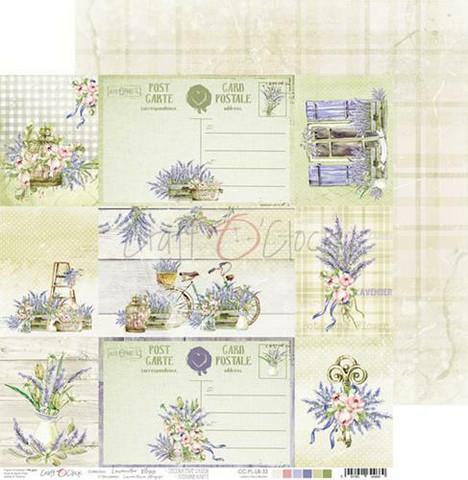 Craft O'clock skräppipaperi Lavender Bliss, Decorative Cards