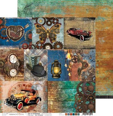 Craft O'clock skräppipaperi Age of Technology, Decorative Cards