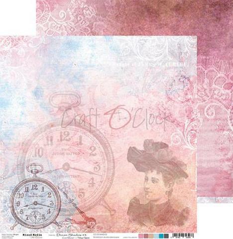 Craft O'clock skräppipaperi Mixed Media, Dream Shadow 03