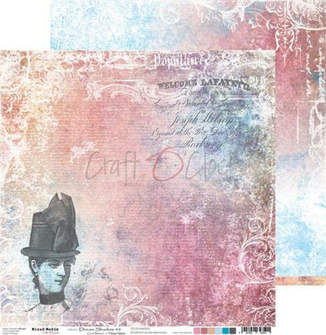 Craft O'clock skräppipaperi Mixed Media, Dream Shadow 05