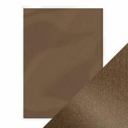 Tonic helmiäiskartonki, sävy Glazed Chestnut, 5 kpl
