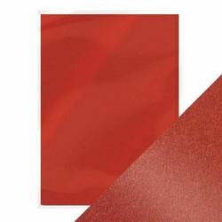 Tonic helmiäiskartonki, sävy Red Velvet, 5 kpl