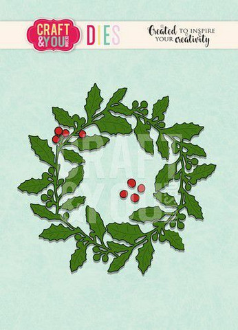 Craft & You stanssisetti Holly Wreath