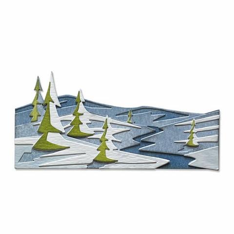 Sizzix Tim Holtz Thinlits stanssisetti Snowscape, Colorize