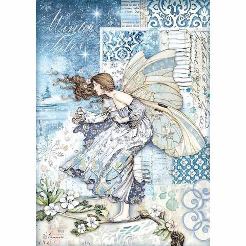 Stamperia riisipaperi Fairy in the Wind