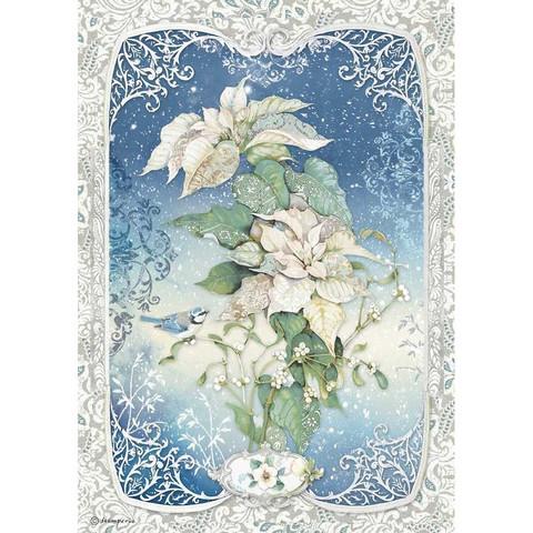 Stamperia riisipaperi Poinsettia