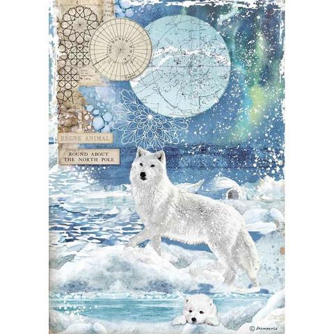 Stamperia riisipaperi Wolf