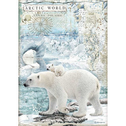 Stamperia riisipaperi Artic World Polar Bears