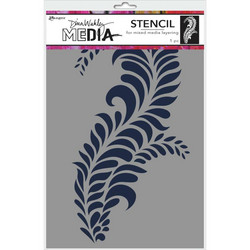 Dina Wakley Media sapluuna Giant Flourish, 9