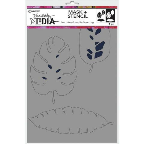 Dina Wakley Media sapluuna ja maski Tropical, 9