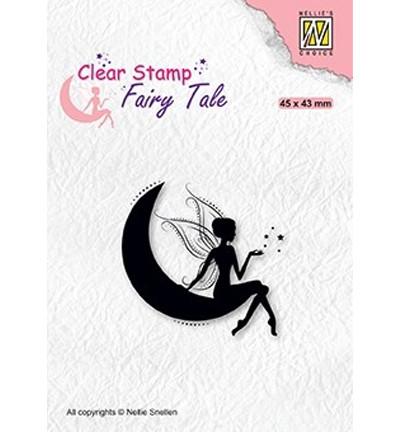 Nellie's Choice Fairy Tale leimasin Elf On Moon