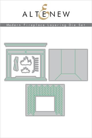 Altenew Modern Fireplace Layering -stanssi