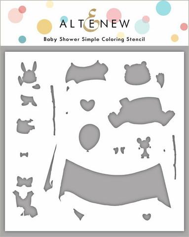Altenew Baby Shower -sapluuna