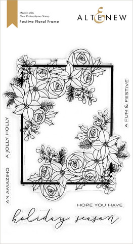 Altenew Festive Floral Frame -leimasinsetti
