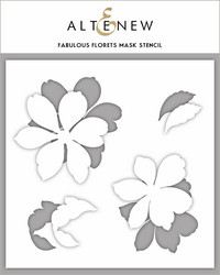 Altenew Fabulous Florets -sapluuna- ja maskisetti