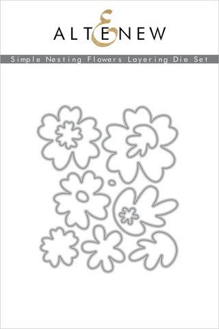 Altenew Simple Nesting Flowers Layering -stanssisetti