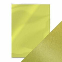 Tonic helmiäiskartonki, sävy Lime Light, 5 kpl