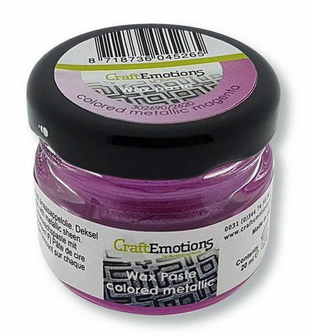 CraftEmotions Wax Paste Colored Metallic -vaha, sävy Magenta