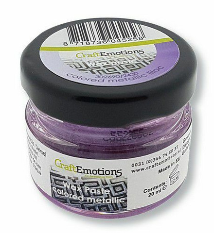 CraftEmotions Wax Paste Colored Metallic -vaha, sävy Lilac