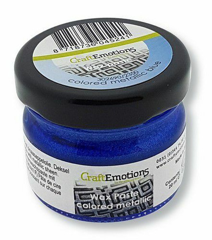 CraftEmotions Wax Paste Colored Metallic -vaha, sävy Blue