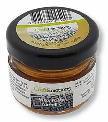 CraftEmotions Wax Paste Metallic -vaha, sävy Honey Gold