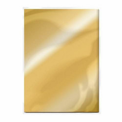 Tonic High Gloss Mirror Card -peilikartonki, sävy Polished Gold, 5 arkkia