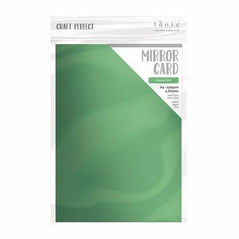 Tonic Satin Effect Mirror Card -peilikartonki, sävy Smooth Mint, 5 arkkia