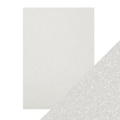 Tonic Glitter Card -glitterkartonki, sävy Sugar Crystal, 5 arkkia