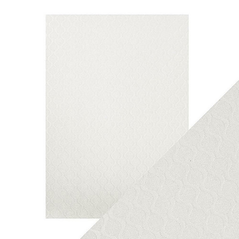 Tonic Luxury Embossed -kartonki, Pearl Ripple, 5 arkkia