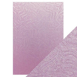 Tonic Luxury Embossed -kartonki, Lilac Waves, 5 arkkia