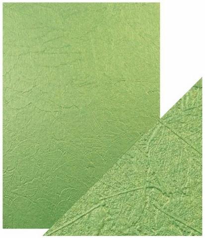 Tonic Luxury Embossed -kartonki, Green Leaves, 5 arkkia