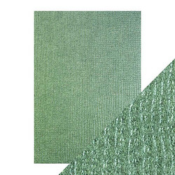Tonic Luxury Embossed -kartonki, Emerald Hessian, 5 arkkia